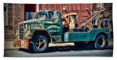 Vintage Dodge Tow Truck 2 Beach Towel