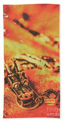 Vintage Dragon Charm Beach Towel