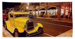Vintage Dreams And City Lights Beach Towel