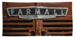 Vintage Farmall Tractor Beach Towel