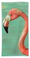Vintage Flamingo Beach Sheet by Jane Schnetlage