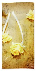 Vintage Floating River Flowers Beach Towel
