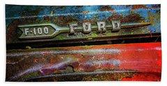 Vintage Ford F100 Beach Towel