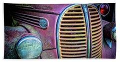 Vintage Ford Firetruck Beach Towel