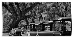 Vintage Ford Line-up At Magnolia Plantation - Charleston Sc Beach Towel
