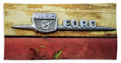 Vintage Ford Logo Beach Sheet