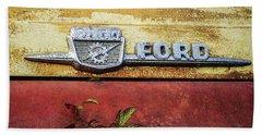 Vintage Ford Logo Beach Sheet