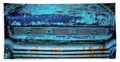 Vintage Ford Pick Up Beach Towel