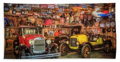 Beach Sheet featuring the photograph Vintage Fords Collectibles by Debra and Dave Vanderlaan