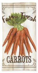 Vintage Fresh Vegetables 3 Beach Towel by Debbie DeWitt