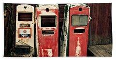 Vintage Gas Pumps Beach Sheet