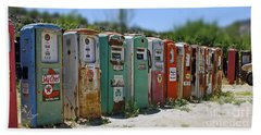 Vintage Gas Pumps Beach Sheet