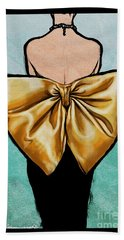 Vintage Glamour Fashion Dress Beach Towel