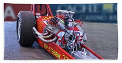 Vintage 'high-compression' Flat Head Dragster Beach Towel