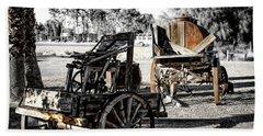 Vintage Horse Drawn Cart Beach Towel