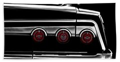 Vintage Impala Black And White Beach Towel