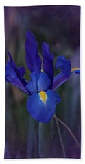 Vintage Blue Magic Iris Beach Towel