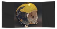 Vintage Leather Wolverine Helmet Beach Sheet