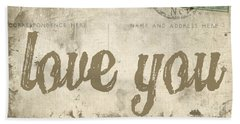 Vintage Love Letters Beach Towel