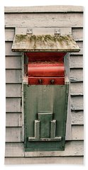 Beach Towel featuring the photograph Vintage Mailbox by Gary Slawsky