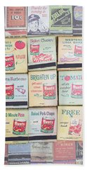 Beach Towel featuring the photograph Vintage Matchbooks by Edward Fielding