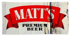 Vintage Matt's Premium Beer Sign Beach Sheet