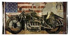 Vintage Motorcycle Unbound Beach Towel