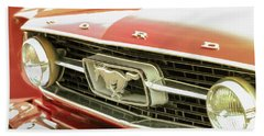 Beach Towel featuring the photograph Vintage Mustang by Caitlyn Grasso