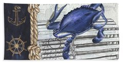 Vintage Nautical Crab Beach Towel