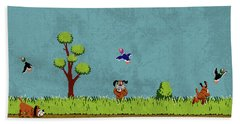 Vintage Nintendo Nes Duck Hunt Game Scene Beach Towel