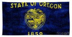 Vintage Oregon Flag Beach Sheet by Jon Neidert