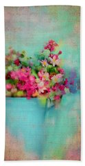 Flowers From A Cottage Garden Beach Sheet