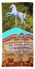 Beach Towel featuring the photograph Vintage Paris Carousel by Melanie Alexandra Price