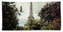 Vintage Paris Landscape Beach Sheet
