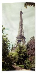 Vintage Paris Beach Towel