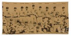 Vintage Philadelphia Phillies Baseball Card  Beach Towel by American School