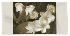 Beach Towel featuring the photograph Vintage Plumeria by Ben and Raisa Gertsberg