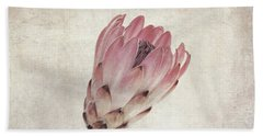Vintage Protea Flower Beach Towel