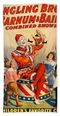 Vintage Ringling Brothers And Barnum And Bailey Combined Circus Beach Sheet