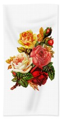 Beach Towel featuring the digital art Vintage Rose I by Kim Kent
