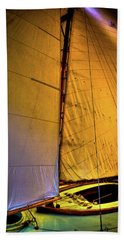 Beach Sheet featuring the photograph Vintage Sailboat by David Patterson