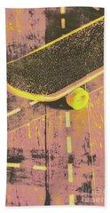 Vintage Skateboard Ruling The Road Beach Towel