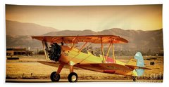 Vintage Stearman Beach Towel