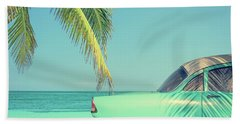Vintage Summer Beach Sheet by Delphimages Photo Creations