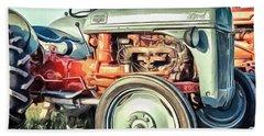 Vintage Tractors Pei Square Beach Towel