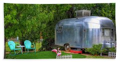 Vintage Trailer Beach Sheet