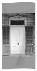 Beach Sheet featuring the photograph Vintage Tropical Weathered Key West Florida Doorway by John Stephens