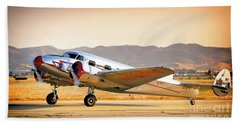 Les Whittlesey's Lockheed Electra 12a Beach Towel