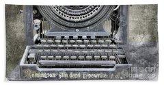 Vintage Typewriter Photo Paint Beach Sheet