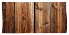 Vintage Wood Planks Beach Sheet